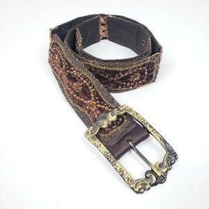 Betsey Johnson Bohemian Beaded Gypsy Belt Sz S